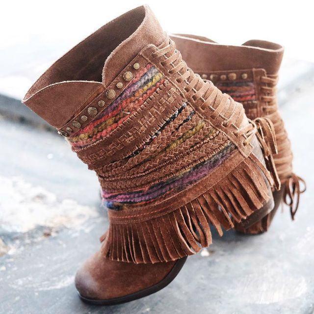 Naughty Monkey Boho Fringe Booties