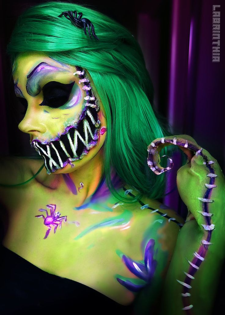 Oogie Boogie halloween makeup by labrinthia on DeviantArt