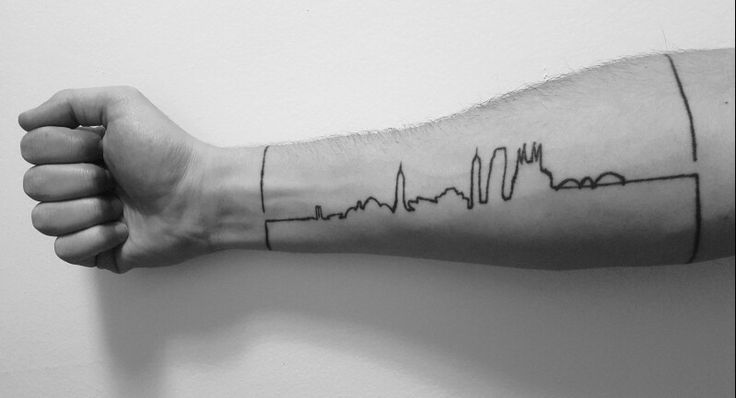 Minimalist skyline tattoo but with a twist. All buildings are from different parts of the world. Can you name them all?