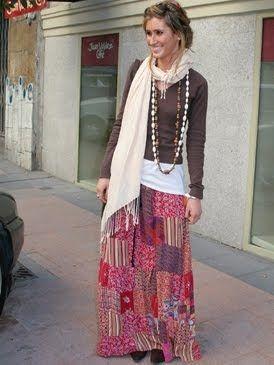 faldas largas hippies
