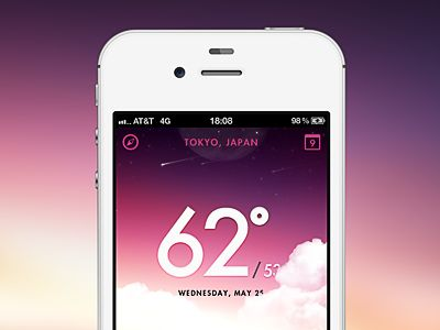 Skyapp_dribbble: Ui Design, App Ui, Weather App, Minimal App, Beautiful Weather, Sky Weather, App Bu, App Design, Mobile Design