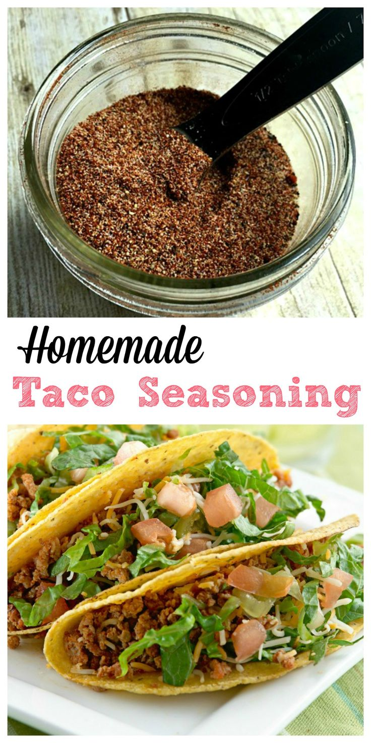 Homemade Taco Seasoning | Chili powder, Tacos and Homemade