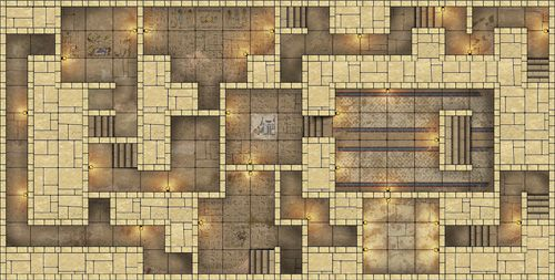 Heroic maps pharaoh 39 s tomb lower heroic maps for Floor 2 dungeon map