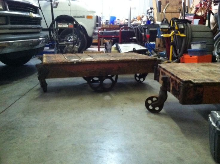 Picked Up Some Old Rail Road Carts Off Craigslist, Theyu0027ll Make An Awesome. Cart  Coffee TableThe RailroadHard ...