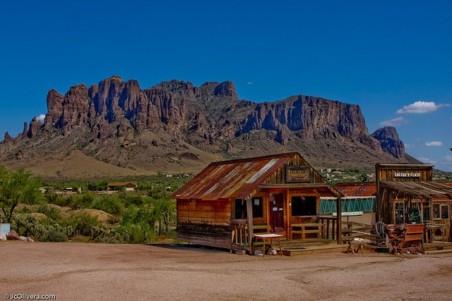Superstition Mountain near Goldfield Ghost Town, Arizona