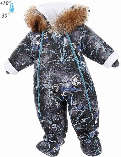 The cost of delivery in Russia is 14 EUR. For orders above 250 EUR - shipping free! STREET Jumpsuit transformer | 1. Black / Natural Raccoon Product code: p-28-93A 1.black/ natural raccoon Price: 133,00 EUR Pramsuits for newborn by Pilguni® collection STREET. Color black. * Length: size 62- 78 cm size 68- 84 cm size 74- 90 cm size 80- 96 cm size 86- 102 cm * With the help of zipper overall easily turns into a sleeping bag. * Dyed natural raccoon has a European certificate SAGA FURS…