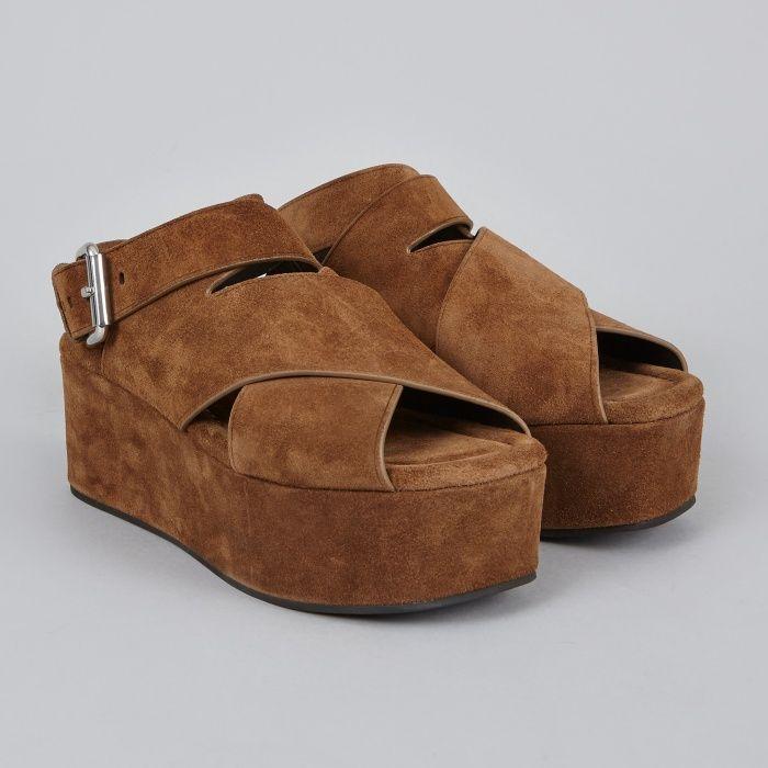 Alexander Wang Rudy Soft Calf Sandal - Dark Truffle Suede (Image 1)