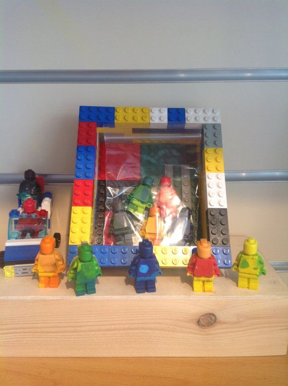 Lego men styled crayons Sold in packs of 5 by artofcandles on Etsy, £1.50 Perfect for party bags and wedding favours
