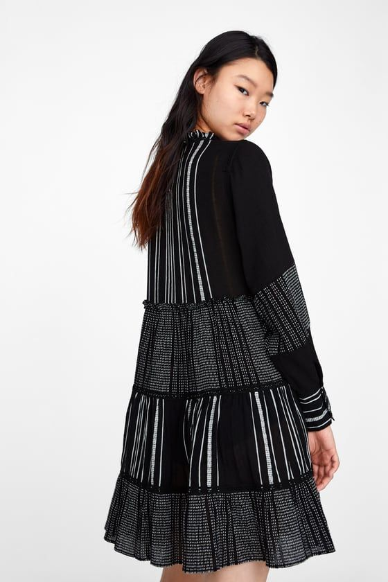 54c987965e1 Image 4 of DRESS WITH CONTRASTING EMBROIDERY from Zara