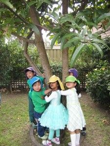 Lidcombe Preschool, NSW Tree-hugging is a way to protest the chopping down of trees – one our most precious natural resources. #enviroweek13