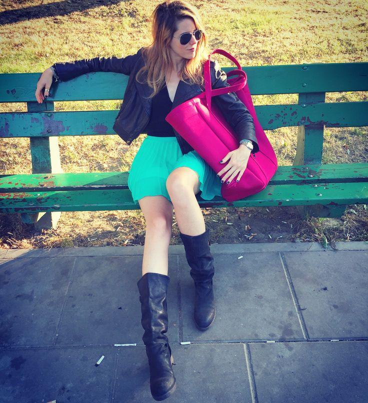 Street glam. Magenta Oversize Bag by Sweet Revenge