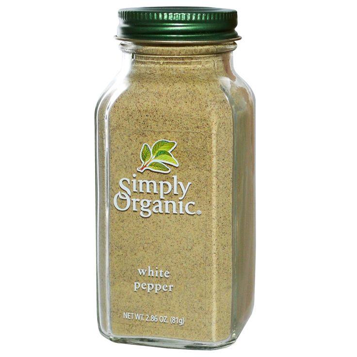 Simply Organic, White Pepper, 2.86 oz (81 g)