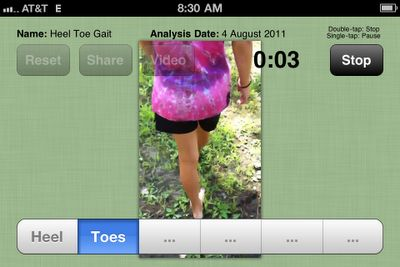Video Analysis App - analyze using your iphone - # of times head is lifted, child walks on toes, etc.   www.YourTherapySource.com: