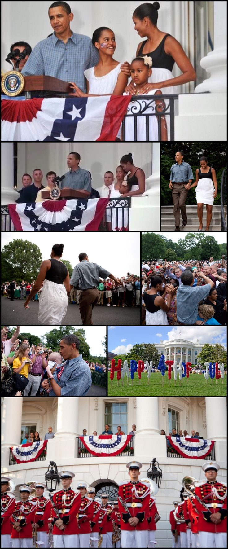 First 4th. at the White House..