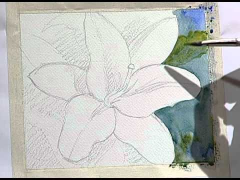 How to paint a beautiful yellow flower 1 / Como pintar una bella flor am...