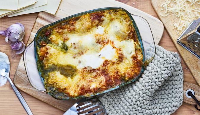 Regionale Spezialität von MAGGI – leckere Lasagne mit Grünkohl und Thüringer Bratwurst. Die schmeckt jedermann.