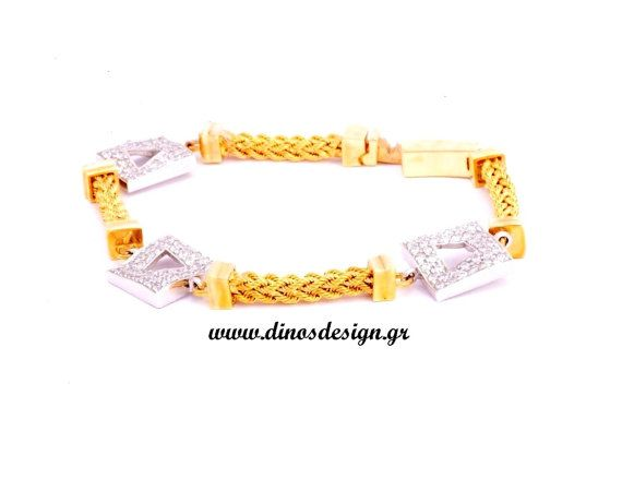 White Gold Bracelet. High Fashion Jewelry. by DinosKoukiaris
