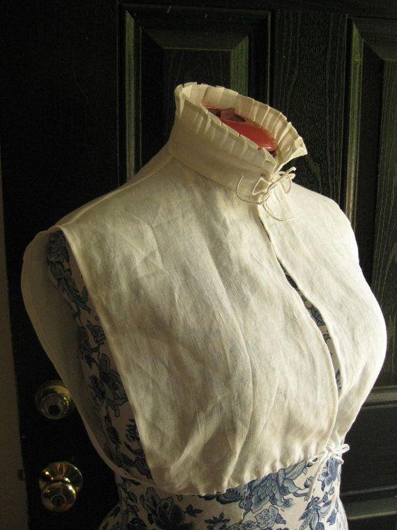 Elizabethan Linen partlet suitable for middle class by woodsholme