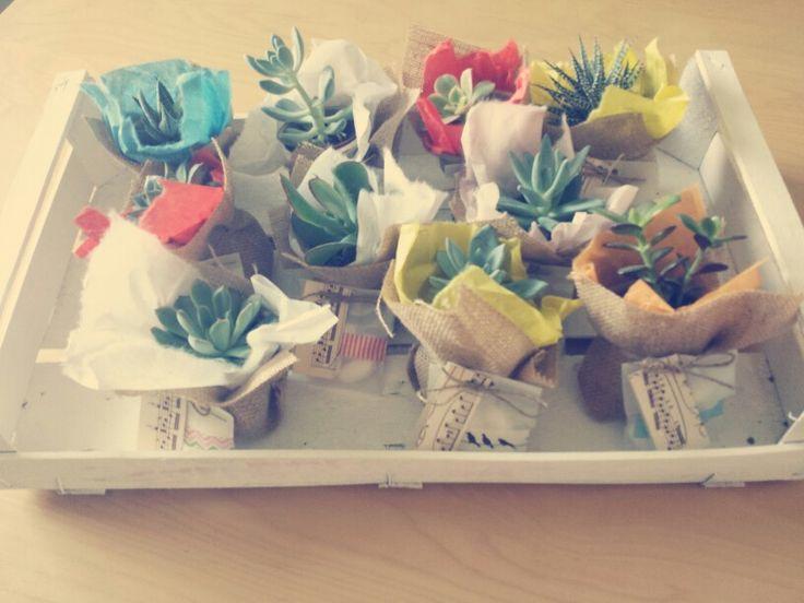 Wedding Time!  Bomboniere per matrimonio #piantinegrasse #bomboniere #handmade