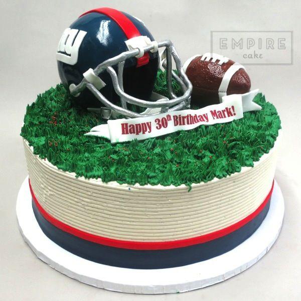 NY Giants Football & Helmet Cake