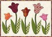 tulip for mug rug or runner