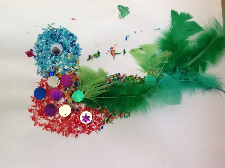 Beautiful bird collage for literacy  word wall for bird body part, to go with 'Feathers for Phoebe' by Rod Clements