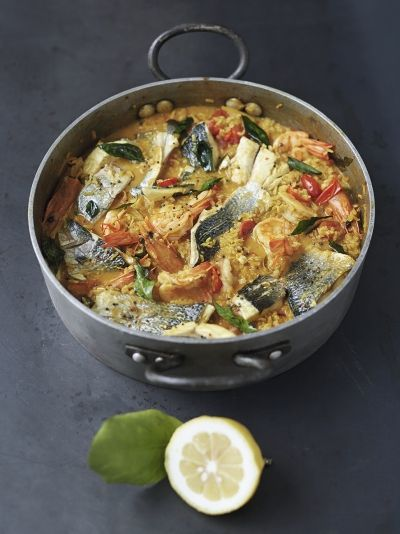 Easy curried fish stew (Jamie Oliver)