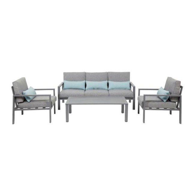 Gotowy Zestaw Mebli Tarasowych Blooma Nymark Szary Garden Furniture Sets Outdoor Furniture Sets Furniture Sets