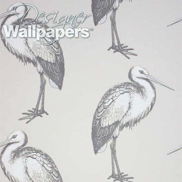 Laguna features a stork pattern taken from a more complex Osborne and Little design. Large scale etched storks are rendered in a naturalist style, and arranged an alternating directions to create a modern pattern with a hint of geometric precision.
