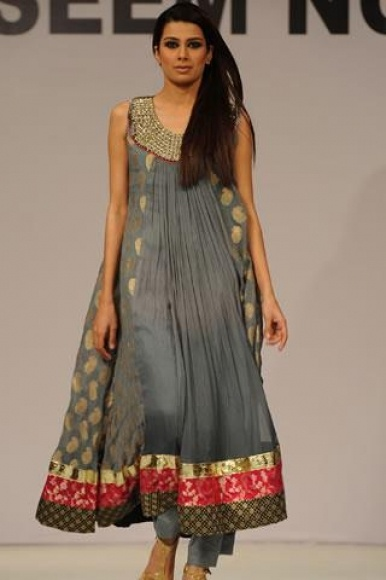 grey anarkali - rare indian outfit colour but i really like!!!