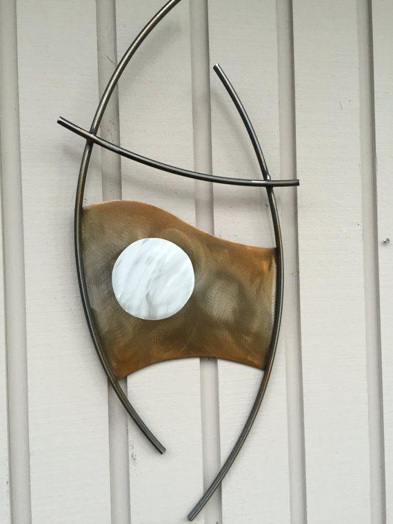 Abstract Metal  wall art sculpture indoor/outdoor garden office by Holly Lentz