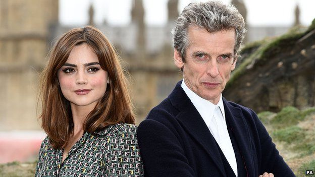 Doctor Who: Jenna Coleman staying in series  Jenna Coleman and Peter Capaldi