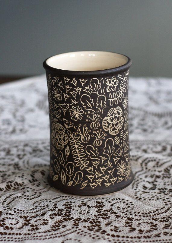 sgraffito cup-FringeandFettle on esty (Joanna Buyert)