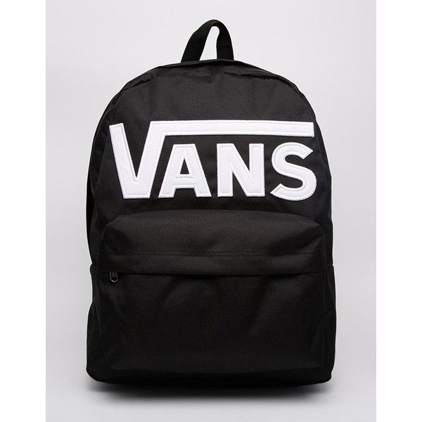 Vans Old Skool II Logo Backpack ($47) ❤ liked on Polyvore featuring bags, backpacks, logo bags, backpacks bags, knapsack bags, rucksack bag and logo backpacks