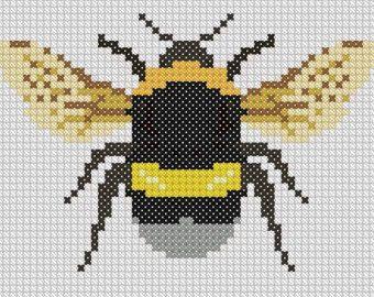 Bumble Bee Cross Stitch - PDF PATTERN