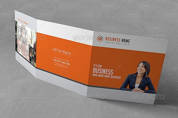 Square Trifold Brochure by moinkhanuy on @creativemarket
