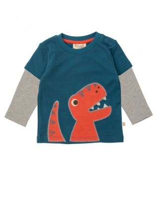 Baby Dino Layered Top - Organic Clothes By Frugi