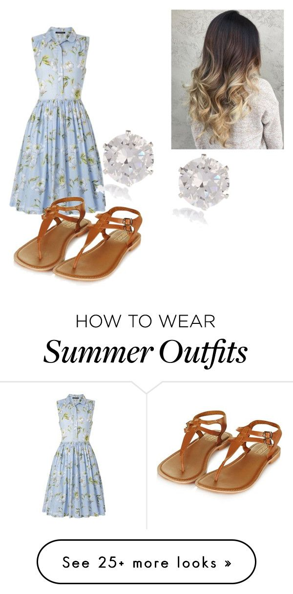 """Summer Outfit"" by frogiesami on Polyvore featuring French Connection, Topshop and River Island"