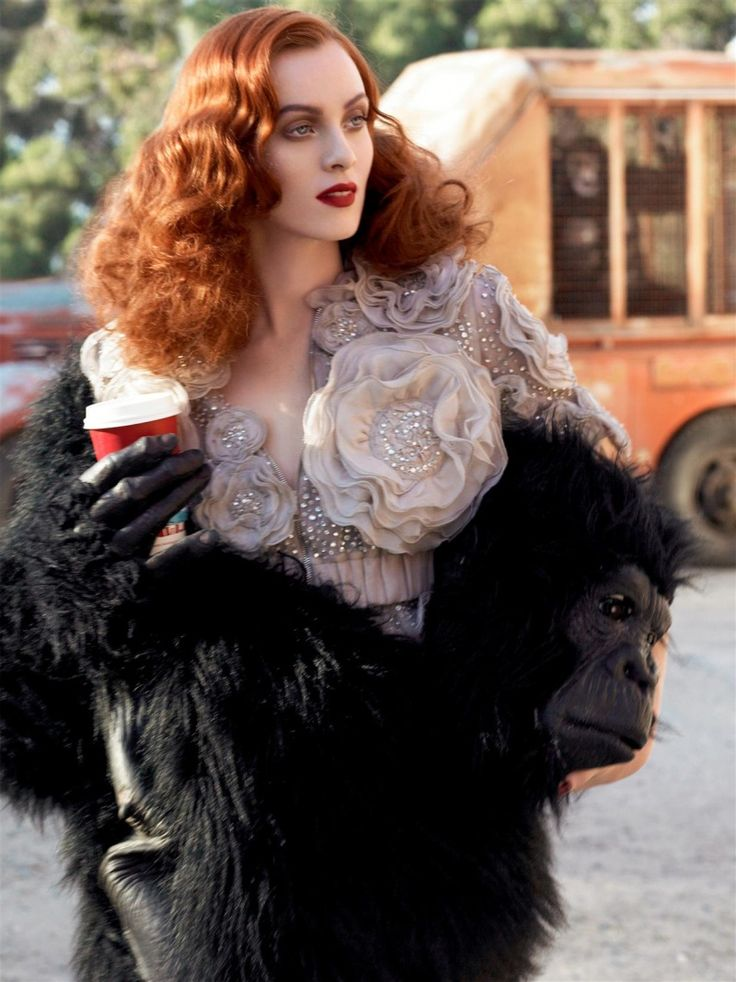 A Smashing Time | Vogue Italia I April 2007 I Model: Karen Elson I Photographer: Steven Meisel.