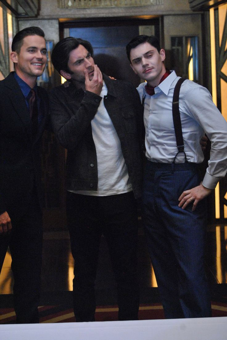 Matt Bomer, Wes Bentley, and Evan Peters from AHS: Hotel.