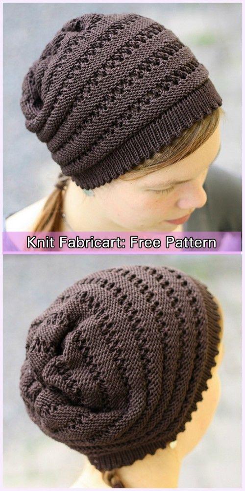 Knitting Patterns Knit Wurm Beanie Hat Modified Free Pattern