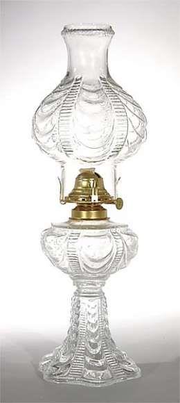 Coolidge Drape pattern kerosene lamp
