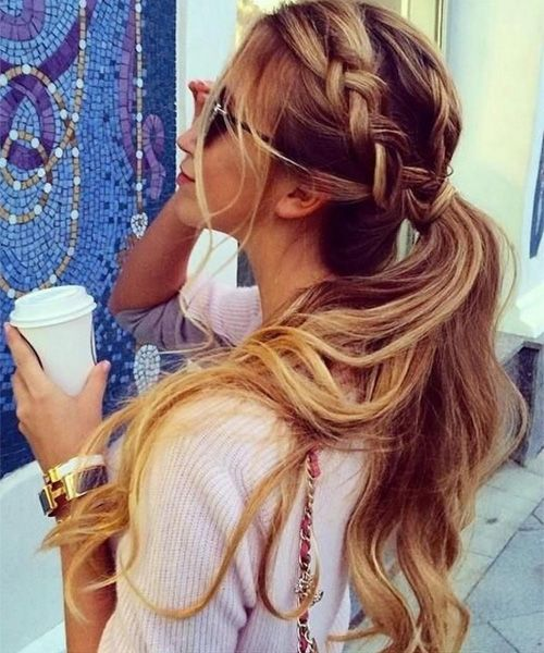 Ever Beautiful Braided Ponytail Long Hairstyles 2015 - 2016