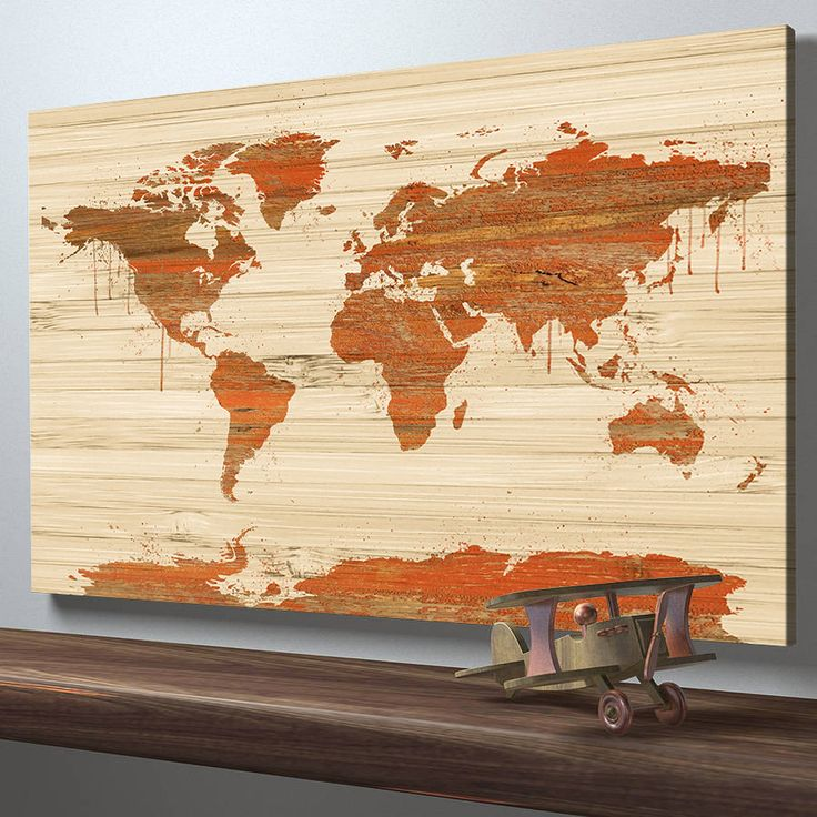 Best 25 world map on wood ideas on pinterest world map map art world map on wood texture canvas print wooden world map wall art gumiabroncs Images