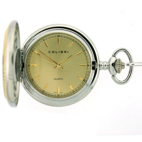 Colibri Pocket Watch Diamond Cut Bezel Wooden Box PWS095891C *** Watch details can be found by clicking on the image.