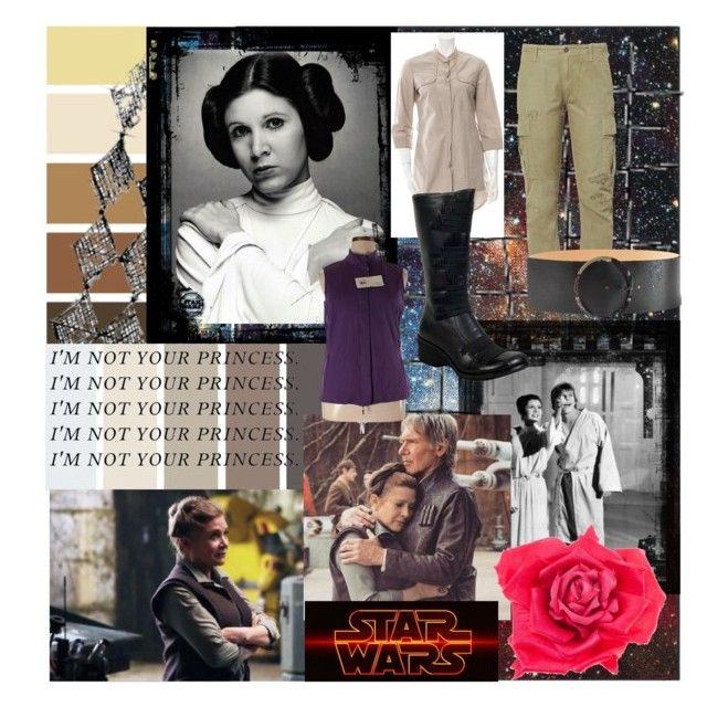 """This is General Leia Organa"" by overly-obsessed-fangirl ❤ liked on Polyvore featuring Safavieh, PAM, Episode, Johnny Loves Rosie, Brunello Cucinelli, Bobby Jones, McQ by Alexander McQueen and Miz Mooz"