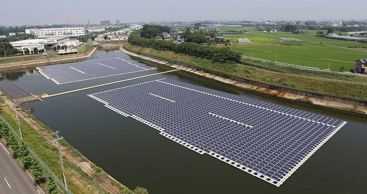 Hydrelio centrale solaire flottante