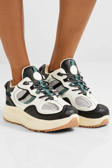 eb89871d00 Eytys | Jet Turbo leather and mesh platform sneakers | NET-A-PORTER.COM