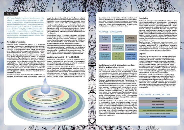 PedaSos-hankejulkaisu, 8 sivua. Aukeama s. 2-3. Taitto: Henna Engren