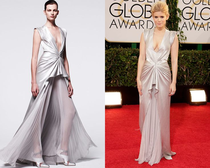 Look de J. Mendel Pre Fall 2014 / Kate Mara en la alfombra roja de los Golden Globes Awards